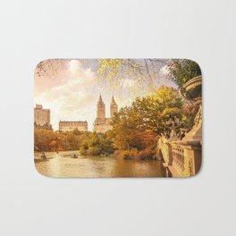 New York City Autumn Landscape Bath Mat