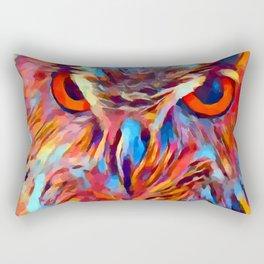 Owl Watercolor Rectangular Pillow