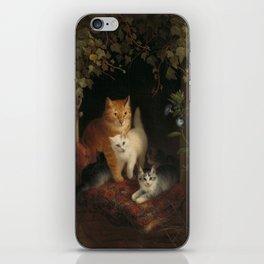 Henriëtte Ronner - Cat with kittens (1844) iPhone Skin