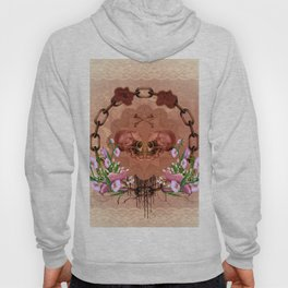 Awesome skulls with flowers Hoody