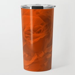 Bloomed Rose Warm Orange Travel Mug