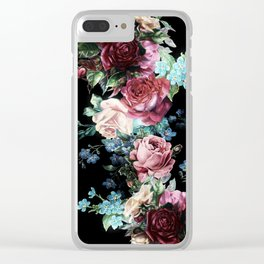 Gypsy Roses Clear iPhone Case