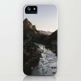 Zion River iPhone Case
