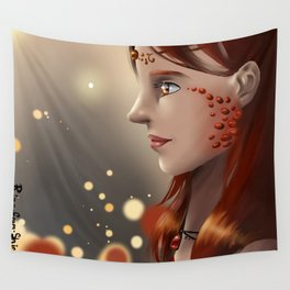 Fire eyes Wall Tapestry