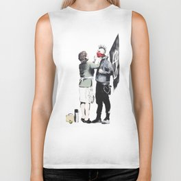 Banksy, Punk with mother Biker Tank