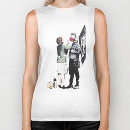 Banksy, Punk with mother Biker Tank