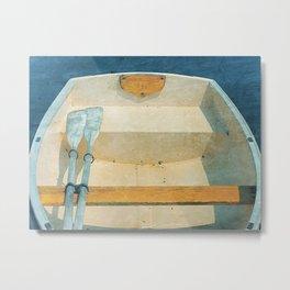 Yellow Boat Rowboat Metal Print