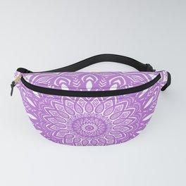 Beautiful Purple Violet Mandala Design Pattern Minimal Minimalistic Fanny Pack
