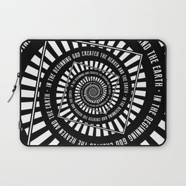 In The Beginning Laptop Sleeve