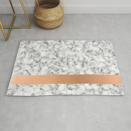 Marble and copper Rug