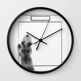 Locked Out & Out of Luck, Cranky Westie, Dublin Wall Clock
