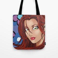 Flower Girl - Blue Tote Bag