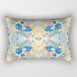 Vintage Marbled Paper Rectangular Pillow