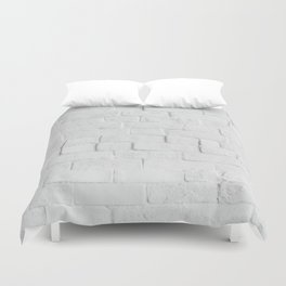 White Brick Wall - Photography Duvet Cover