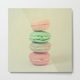 Four Macarons Metal Print