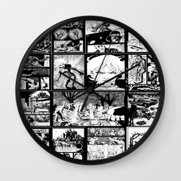 WHITE - A nne Frankenstein Book I - Resurrection Wall Clock