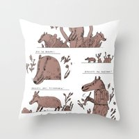badger Throw Pillows featuring badger by Jon Boam
