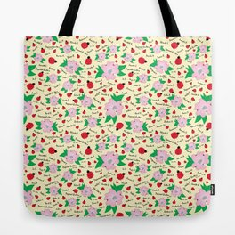 Dreaming Ladybugs and Dogwood Flowers Tote Bag