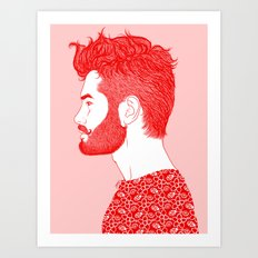 Red Beard Art Print
