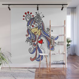 Crown of Pain - An Introduction Blue - Zine Wall Mural
