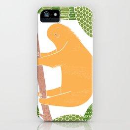 Sleepy Happy Sloth iPhone Case