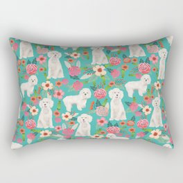Cockapoo floral dog breed dog pattern pet friendly cocker spaniel poodle Rectangular Pillow