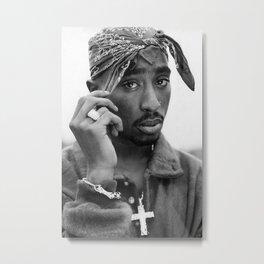 Tupa-c Amaru Shakur Poster Print, Hip Hop Rap, 2pa-c Wall Art, Hip-Hop Rapper, Music Legend, Fashion Décor Black White Print Sizes A5/A4/A3 Metal Print