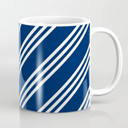 Navy and White Large Small Small Stripes Coffee Mug