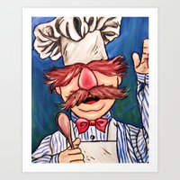 chef Art Prints featuring Swedish Chef by MSG Imaging