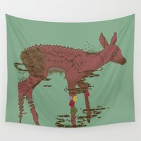 fawn Wall Tapestries featuring Fawn Spirit by Rendra Sy