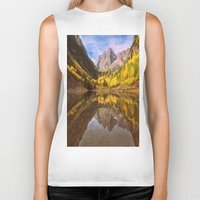 mountains Biker Tanks featuring mountains. Mirror Lake by 2sweet4words Designs