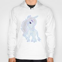 the last unicorn Hoodies featuring The Last Unicorn by Cosmic Lab Creations