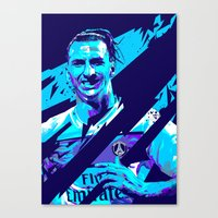 zlatan Canvas Prints featuring Zlatan Ibrahimović : Football Illustrations by mergedvisible