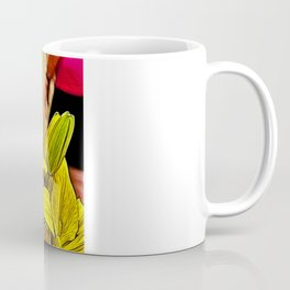 Fractal Yellow Lily Coffee Mug