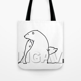 The Ungava Collection: The Polar Bear Family Tote Bag