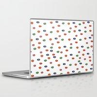 polka dots Laptop & iPad Skins featuring Polka Dots  by BriannaCamp