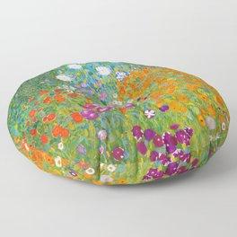 12,000pixel-500dpi - Klimt Farm Garden - Digital Remastered Edition Floor Pillow