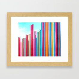 Colorful Rainbow Pipes Framed Art Print