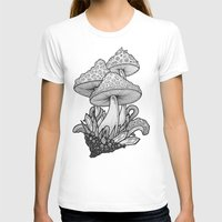 mushrooms T-shirts featuring Mushrooms by Sushibird