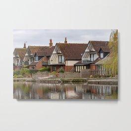 Riverside cottages on the River Bure, Horning Metal Print