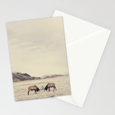 Sparring Elk in Wyoming - Wildlife Photography Stationery Cards