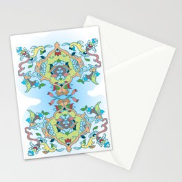 Persian tile earth to sky Stationery Cards