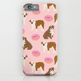 English Bulldog donuts funny pet portrait cute gift for dog person dog lover bulldog owner gifts iPhone Case