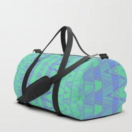 Aztec pattern in turquoise Duffle Bag