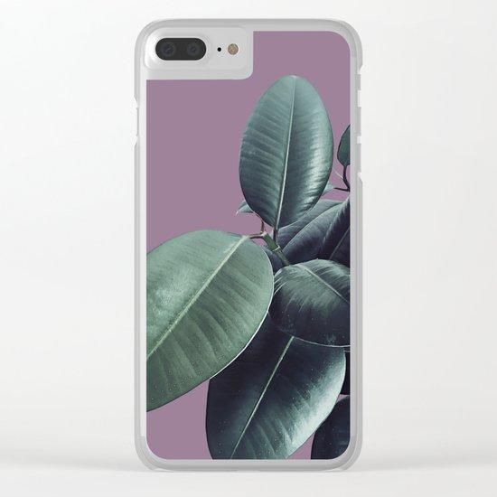 Ficus Elastica #12 #VeryGrape #decor #art #society6 Clear iPhone Case