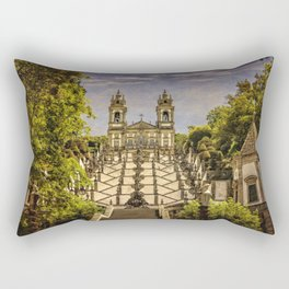 Portugal, Minho district, Braga, the sanctuary of Bom Jesus and the baroque stairway Rectangular Pillow