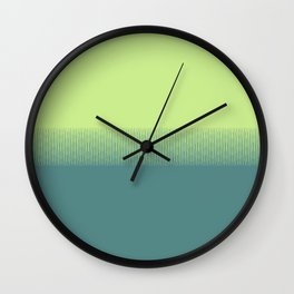 Lime green to dark green gradient boundary spectrum Wall Clock