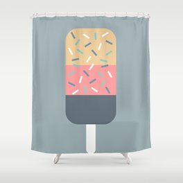 Popsicle (Blue) Shower Curtain