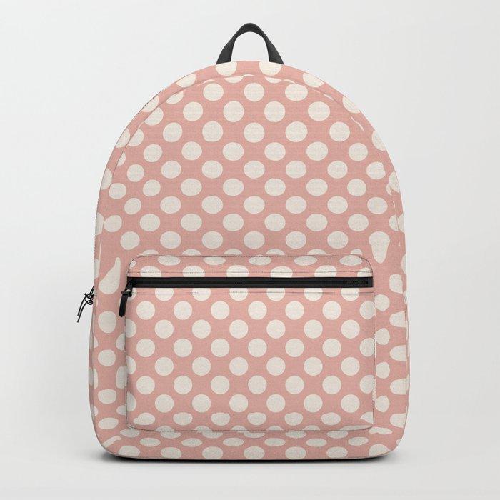 Polka dot dance on pink I -Polkadots pattern Backpack