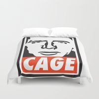 obey Duvet Covers featuring OBEY CAGE by MDRMDRMDR